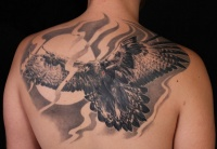 Eagle tattoo on the back
