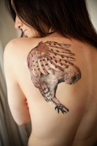 Owl hunting tattoo