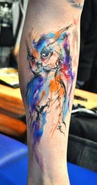 Owl tattoo watercolor