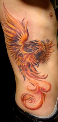 Phoenix bird tattoo