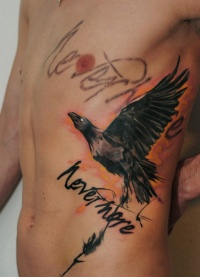 Raven tattoo by dopeindulgence