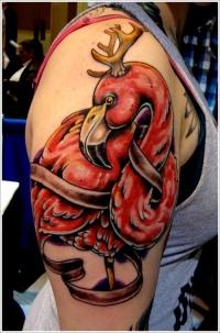 Red bird tattoo designs for men on sleeve