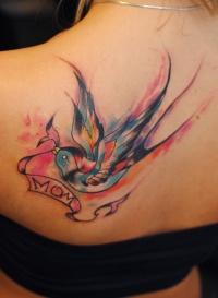 Swallow watercolorntattoo by dopeindulgence