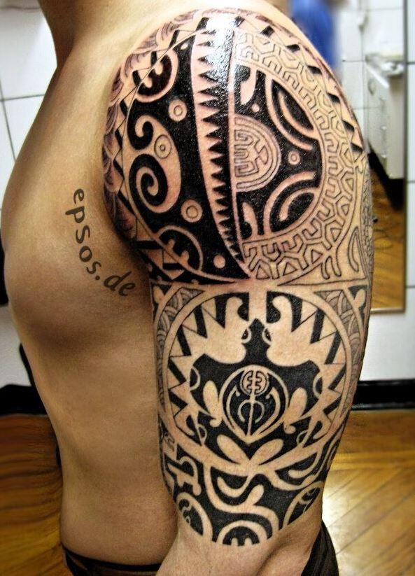 turtle polynesian tattoo on half sleeve. Black Bedroom Furniture Sets. Home Design Ideas
